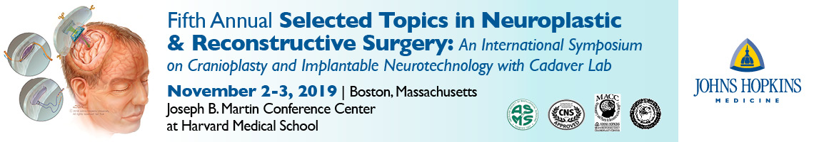 Fifth Annual Selected Topics in Neuroplastic and Reconstructive Surgery: An International Symposium on Cranioplasty and Implantable Neurotechnology Banner
