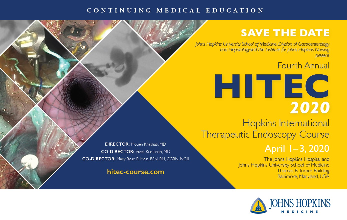 80049119 - Fourth Annual HITEC: Hopkins International Therapeutic Endoscopy Course Banner