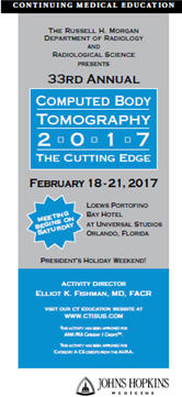 33rd Annual Computed Body Tomography 2017:  The Cutting Edge Banner