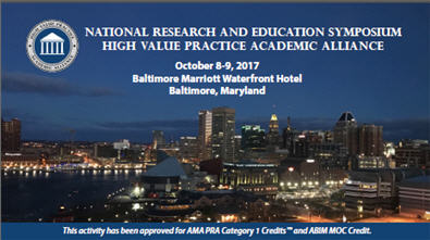 National Research and Education Symposium - High Value Practice Academic Alliance Banner