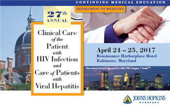 27th Annual Clinical Care of the Patient with HIV Infection and Care of Patients with Viral Hepatitis Banner