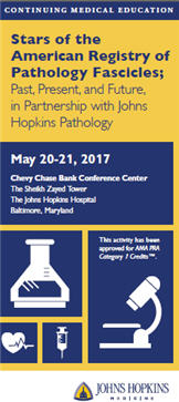 Stars of the American Registry of Pathology Fascicles; Past, Present and Future, in Partnership with Johns Hopkins Pathology Banner