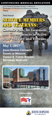 Third Annual Service Members & Veterans: Chronic Pain, Its Treatment, and Consequences in Active Duty Military and Veterans Banner