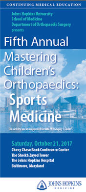 Fifth Annual Mastering Children's Orthopaedics: Sports Medicine Banner