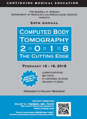 34th Annual Computed Body Tomography 2018: The Cutting Edge Banner