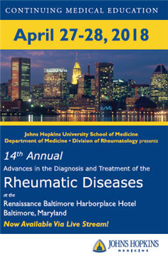 14th Annual Advances in the Diagnosis and Treatment of the Rheumatic Diseases Banner