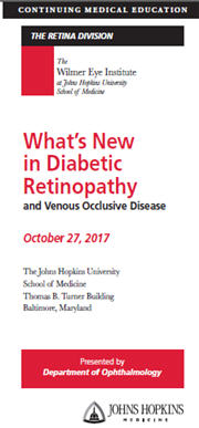 What's New in Diabetic Retinopathy and Venous Occlusive Disease? Banner