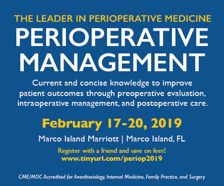 Perioperative Management - In Its 35th Year Banner