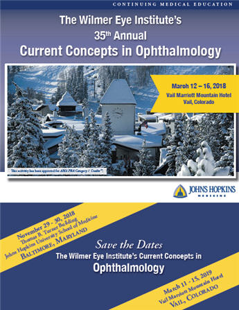 The Wilmer Eye Institute's 35th Annual Current Concepts in Ophthalmology Banner