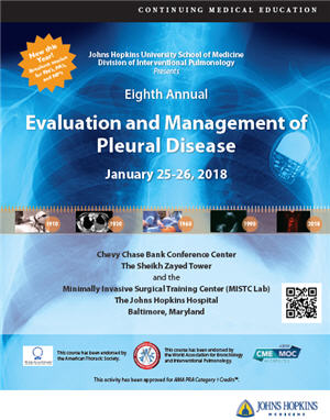 Eighth Annual Evaluation and Management of Pleural Disease Banner