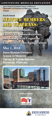 Fourth Annual Service Members and Veterans: Treatment Methods, End-of-life Considerations, and Changes in Cognitive Function for the Aging Patient Banner