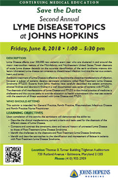 Second Annual Lyme Disease Topics at Johns Hopkins Banner