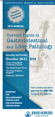 18th Annual Current Topics in Gastrointestinal and Liver Pathology Banner