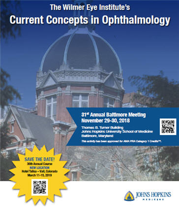 The Wilmer Eye Institute's 31st Annual Current Concepts in Ophthalmology Banner