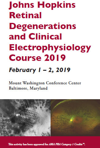 Johns Hopkins Retinal Degenerations and Clinical Electrophysiology Course 2019 Banner