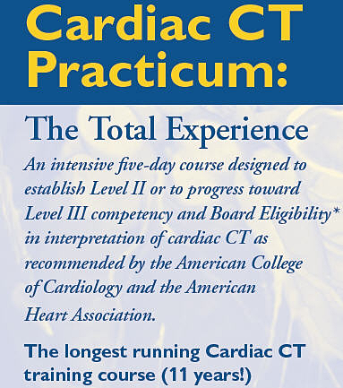 Cardiac CT Practicum: The Total Experience June 2019 Banner