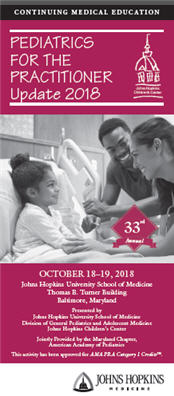 33rd Annual Pediatrics for the Practitioner: Update 2018 Banner
