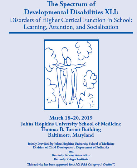 The Spectrum of Developmental Disabilities XLI: Disorders of Higher Cortical Function in School: Learning, Attention, and Socialization Banner