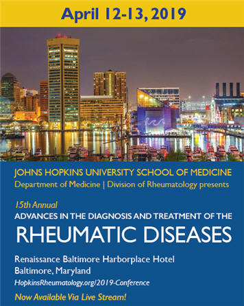 15th Annual Advances in the Diagnosis and Treatment of the Rheumatic Diseases Banner