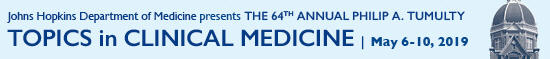 64th Annual Philip A. Tumulty Topics in Clinical Medicine Banner