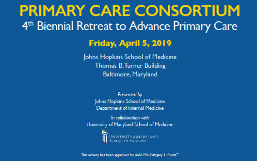Primary Care Consortium 4th Biennial Retreat to Advance Primary Care Banner