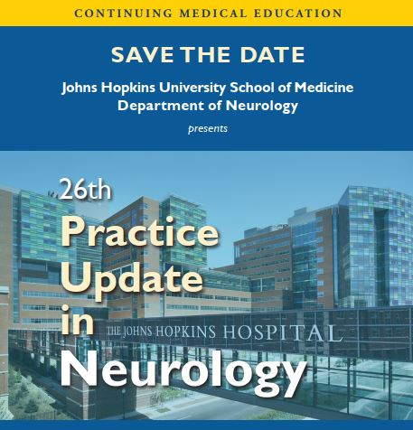 26th Practice Update in Neurology Banner