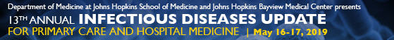 13th Annual Infectious Diseases Update for Primary Care and Hospital Medicine Banner