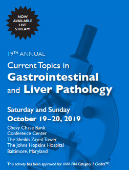 19th Annual Current Topics in Gastrointestinal and Liver Pathology Banner