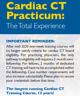 Johns Hopkins Cardiac CT Practicum: The Total Experience June 15-19 2020 Banner