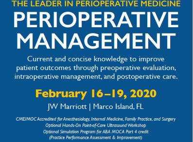 Perioperative Management- In Its 36th Year Banner