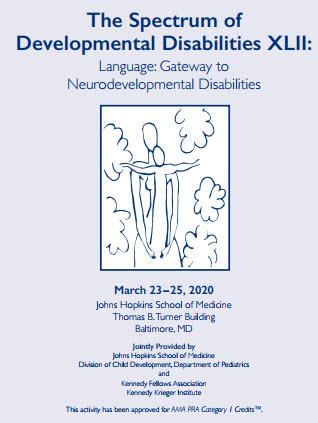 80049906 - The Spectrum of Developmental Disabilities XLII: Language: Gateway to Neurodevelopmental Disabilities Banner