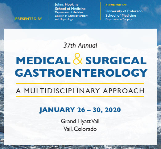 37th Annual Medical and Surgical Gastroenterology: A Multidisciplinary Approach Banner