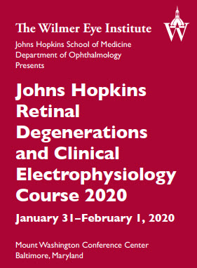 Retinal Degenerations and Clinical Electrophysiology Course 2020 Banner