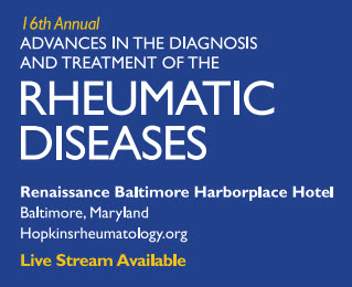 80051209 - 16th Annual Advances in the Diagnosis and Treatment of the Rheumatic Diseases (LIVE STREAM ONLY) Banner