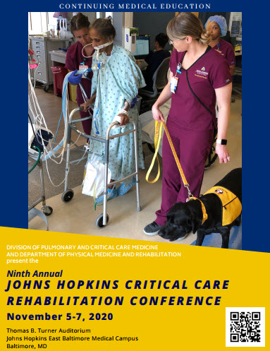 Ninth Annual Johns Hopkins Critical Care Rehabilitation Conference (Virtual Format) - November 5 -7, 2020 Banner