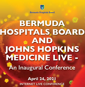 Bermuda Hospitals Board and Johns Hopkins Medicine Live! An Inaugural Conference Banner