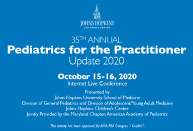 35th Annual Pediatrics for the Practitioner: Update 2020 Banner