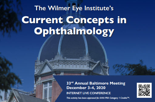 The Johns Hopkins Wilmer Eye Institute's 33rd Annual Current Concepts in Ophthalmology Banner