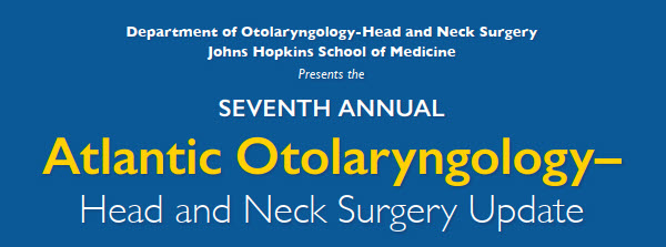 Seventh Annual Atlantic Otolaryngology-Head and Neck Surgery Update Banner