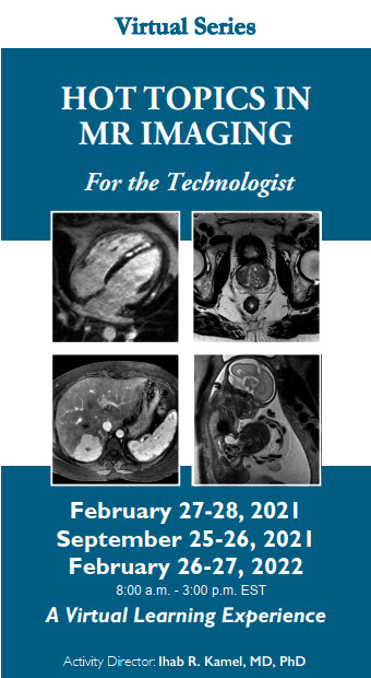 21st Hot Topics in MR Imaging for the Technologist Series Banner