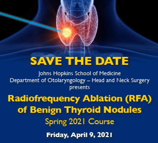 Radiofrequency Ablation (RFA) of Benign Thyroid Nodules - Spring 2021 Course Banner