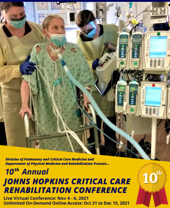 Tenth Annual Johns Hopkins Critical Care Rehabilitation Conference Banner