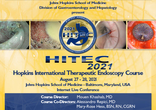 Fifth Annual HITEC: Hopkins International Therapeutic Endoscopy Course Banner