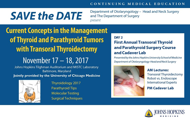 Current Concepts in the Management of Thyroid and Parathyroid Tumors with Transoral Thyroidectomy Banner