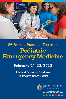 24152 - JHACH 8th Annual Practical Topics in Pediatric Emergency Medicine Banner