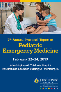 80028094 - JHACH 7th Annual Practical Topics in Pediatric Emergency Medicine Banner