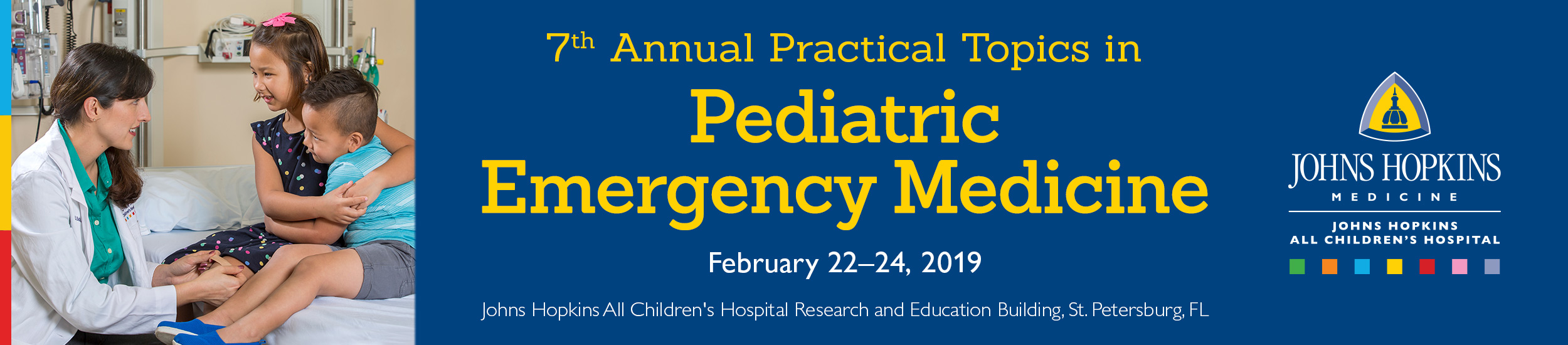 JHACH 7th Annual Practical Topics in Pediatric Emergency Medicine Banner