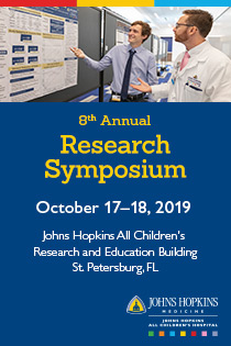 18261 - Johns Hopkins All Childrens 8th Annual Research Symposium Banner