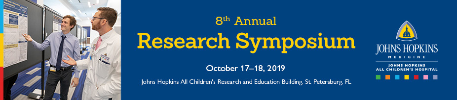 Johns Hopkins All Childrens 8th Annual Research Symposium Banner