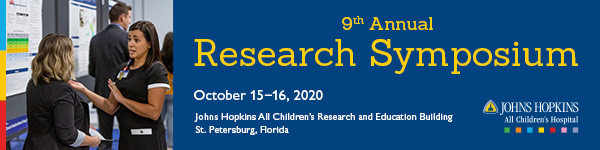 Johns Hopkins All Children's 9th Annual Research Symposium Banner